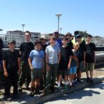 Group at water treatment plant