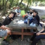 Lunch during Hike Day